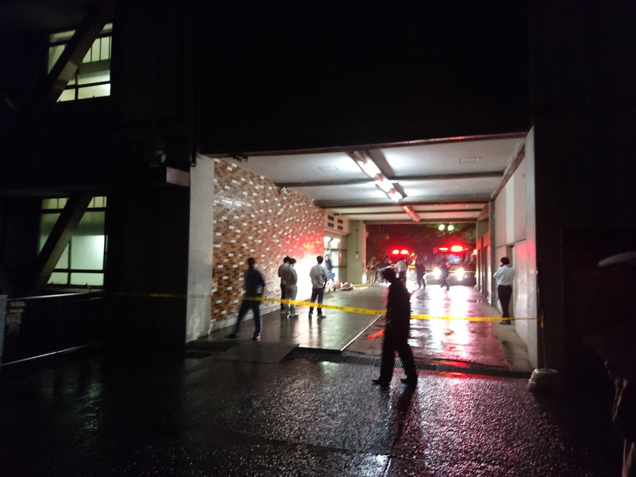 東大の工学部5号館で火事の現場画像