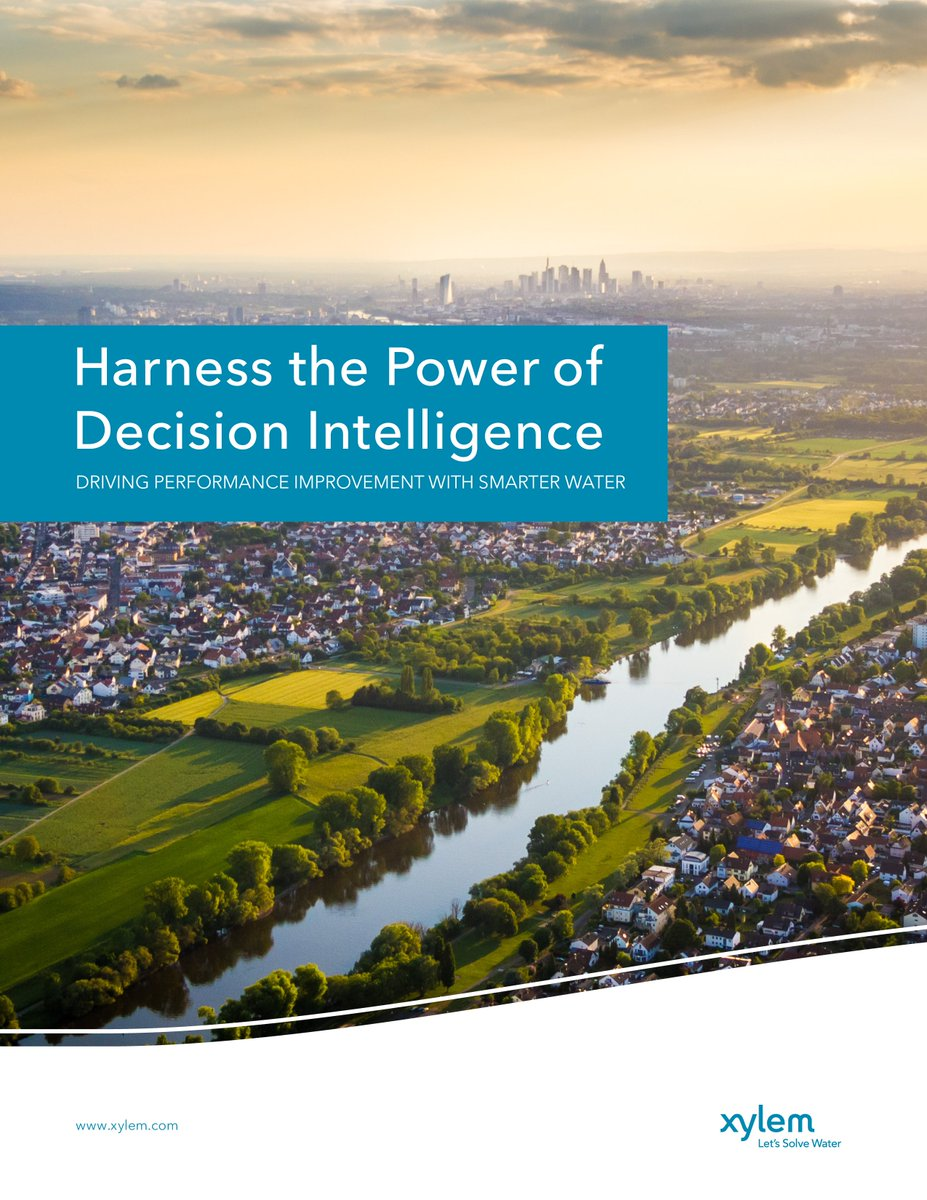 The 6 strategies in our new #DecisionIntelligence paper provide a roadmap for unlocking the value of water information and delivering world-class wate...