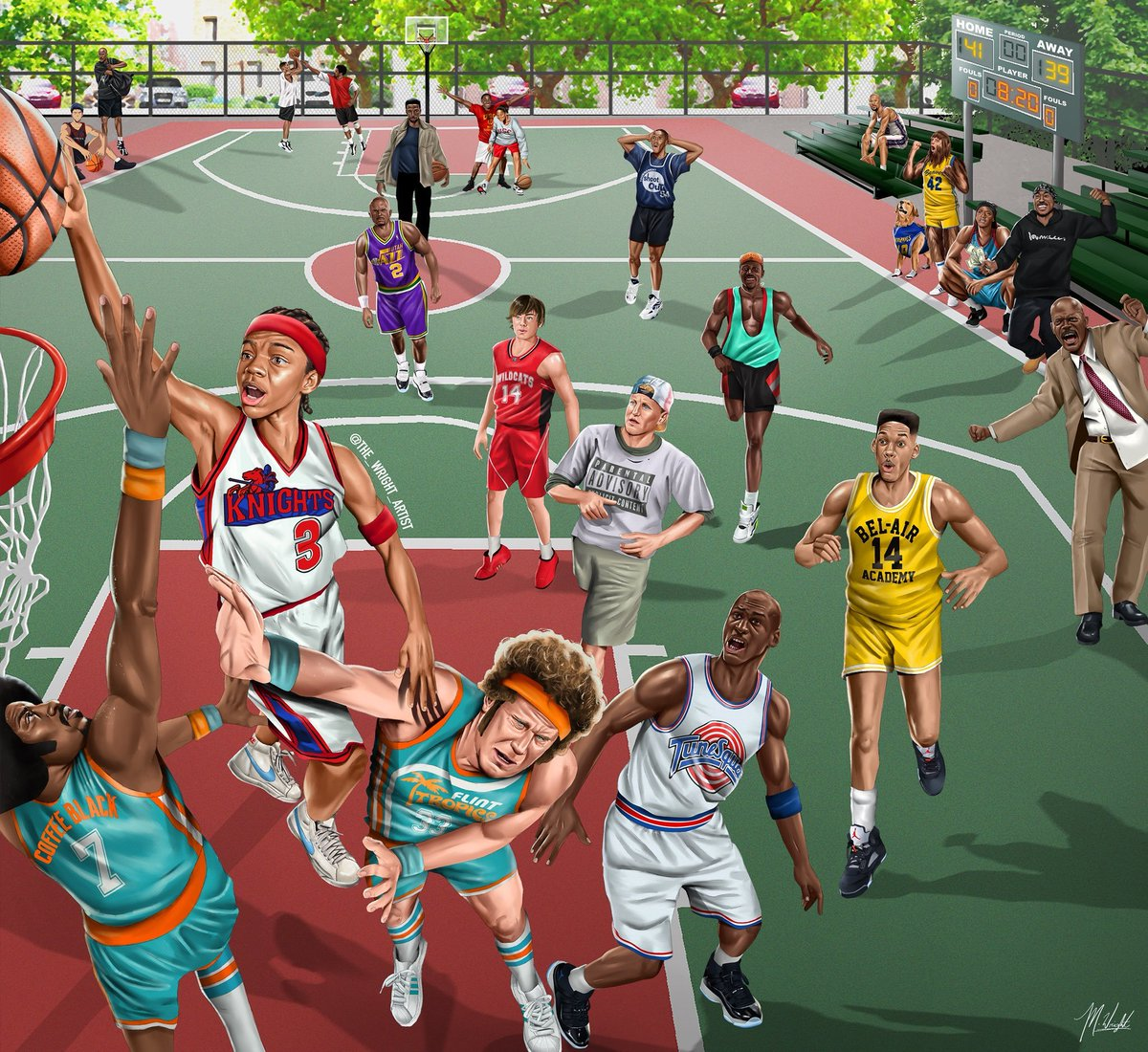 Ballislife Com On Twitter The Blacktop Basketball Legends In Film Amazing Artwork By Malachi Wright Thewrightar
