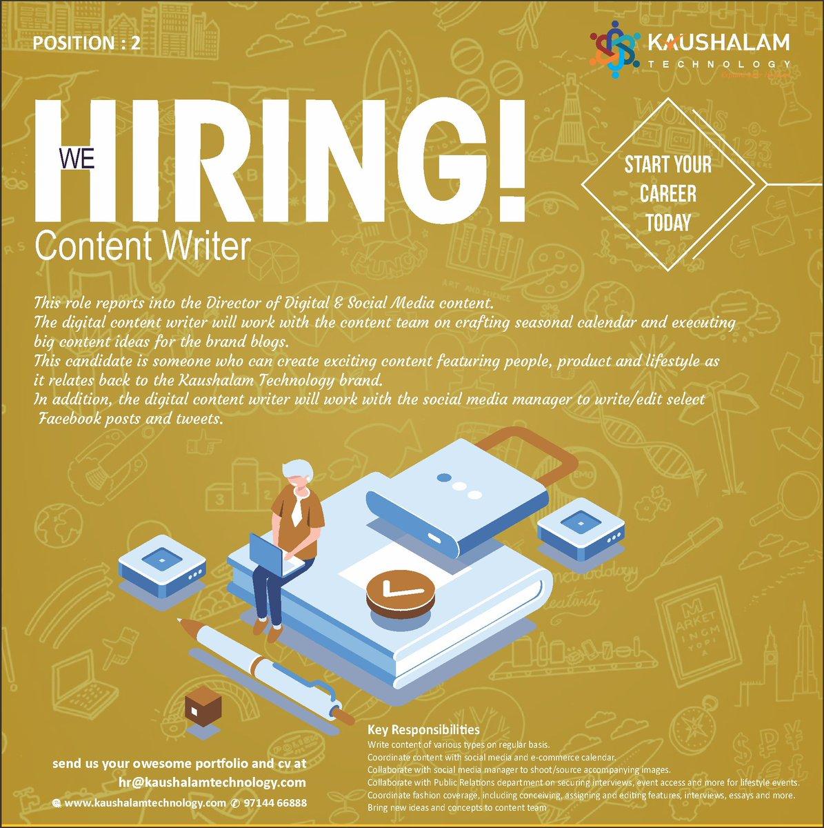 contentwriterjob hashtag on Twitter