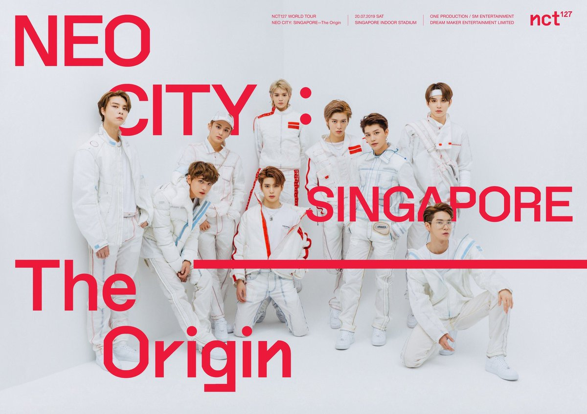Sg NCTzens, save your hearts for these Superhumans because the biggest hit on the stage, @NCTsmtown_127, will be holding the NCT 127 WORLD TOUR 'NEO CITY: SINGAPORE – The Origin' on 20 July 2019, Saturday, at Singapore Indoor Stadium! More info to come! #NCT127inSG #NEOCITYinSG