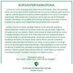 Image for the Tweet beginning: Bursaspor Kamuoyuna! #UmutturBursasporDaima
