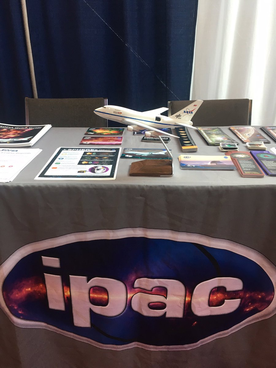 SOFIA has landed on IPAC's booth for #AAS234! Come visit us!