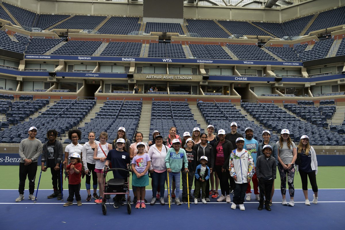 Through the Adaptive Sports Academy at the HSS Lerner Children's Pavilion, our pediatric patients enjoyed a fun-filled day of tennis at the @USTA Billie Jean King National Tennis Center last week! #HSSKids #USTA