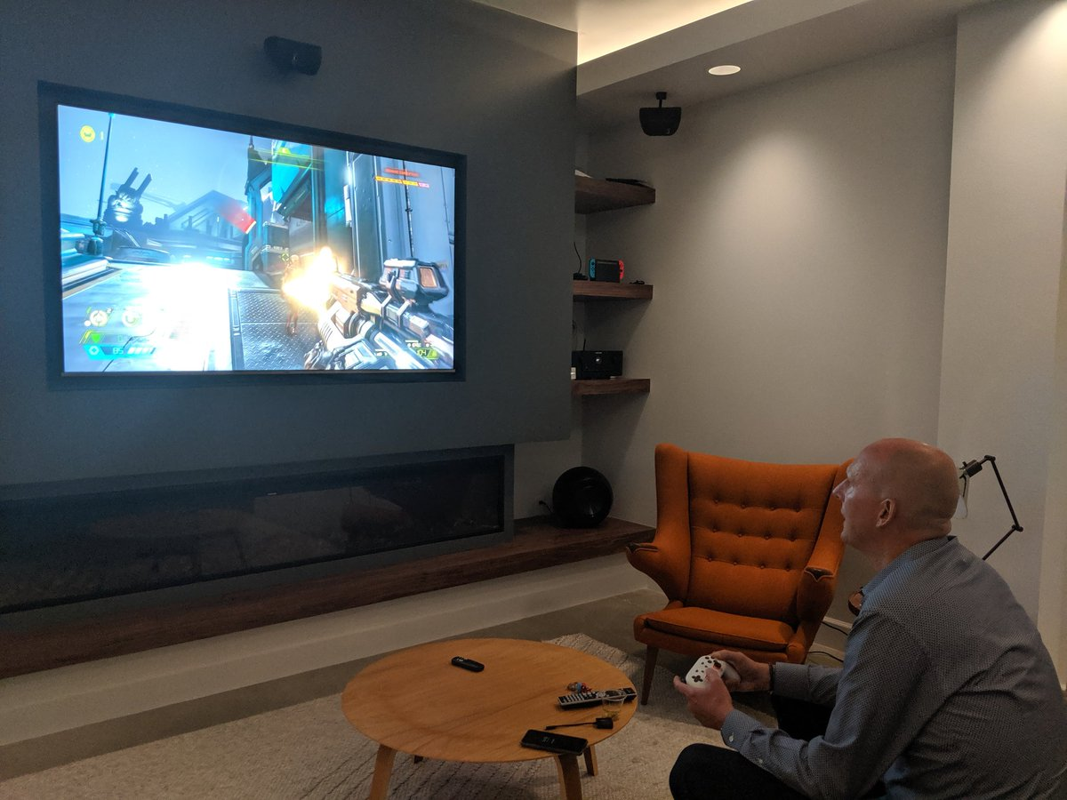 Playing #DoomEternal on #Stadia. Congrats to the team @idSoftware on an incredible game... https://t.co/FFwjdca5CQ
