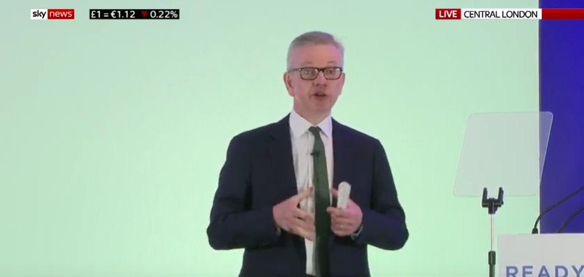 If I'd had the weekend Michael Gove has had, I wouldn't necessarily be pacing a stage with a tightly-rolled piece of paper in my hand