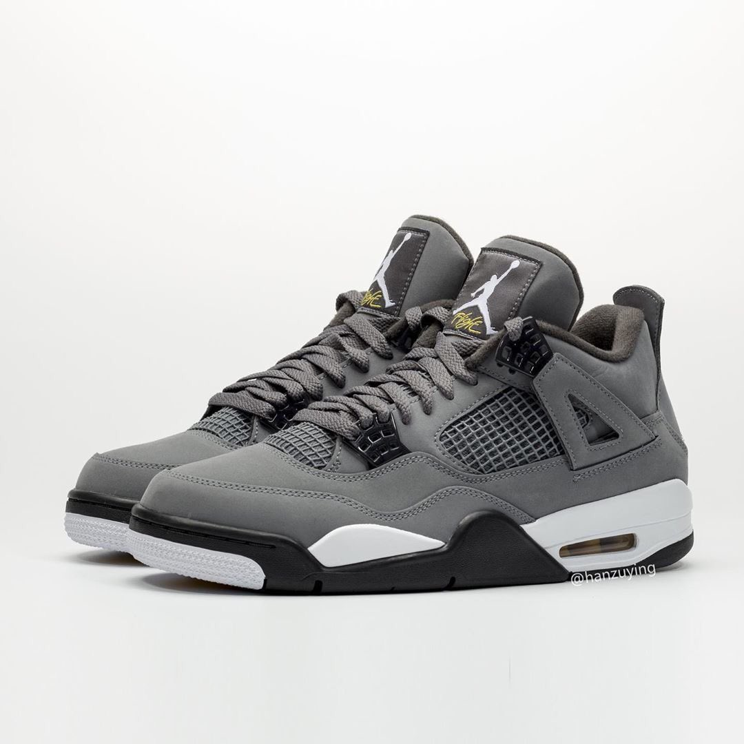 """RELEASE UPDATE // Expect to see the """"Cool Grey"""" 4's (IV) release on August 3rd for $190. Who's excited to grab these?! 🤔🔥"""