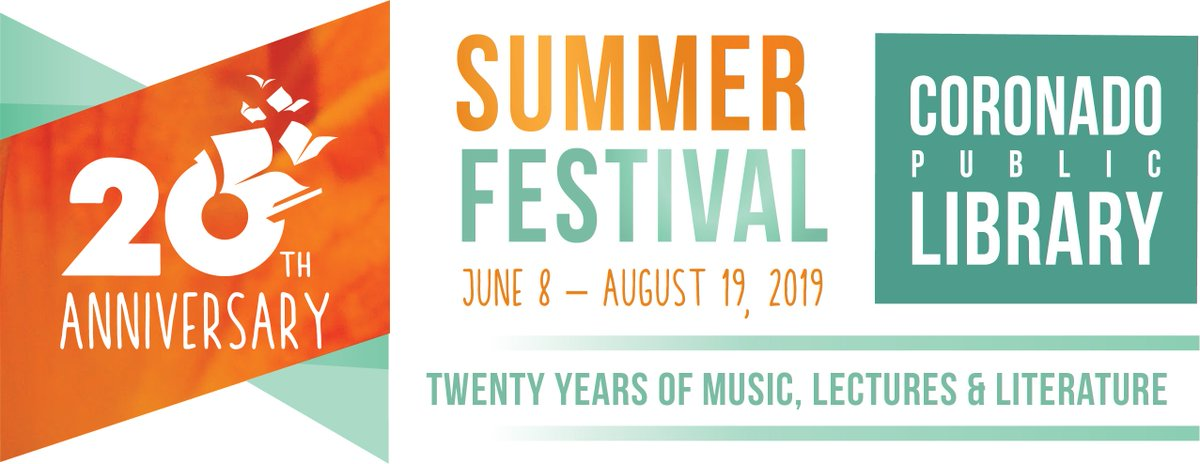 Image result for Coronado public library 20th summer festival logo