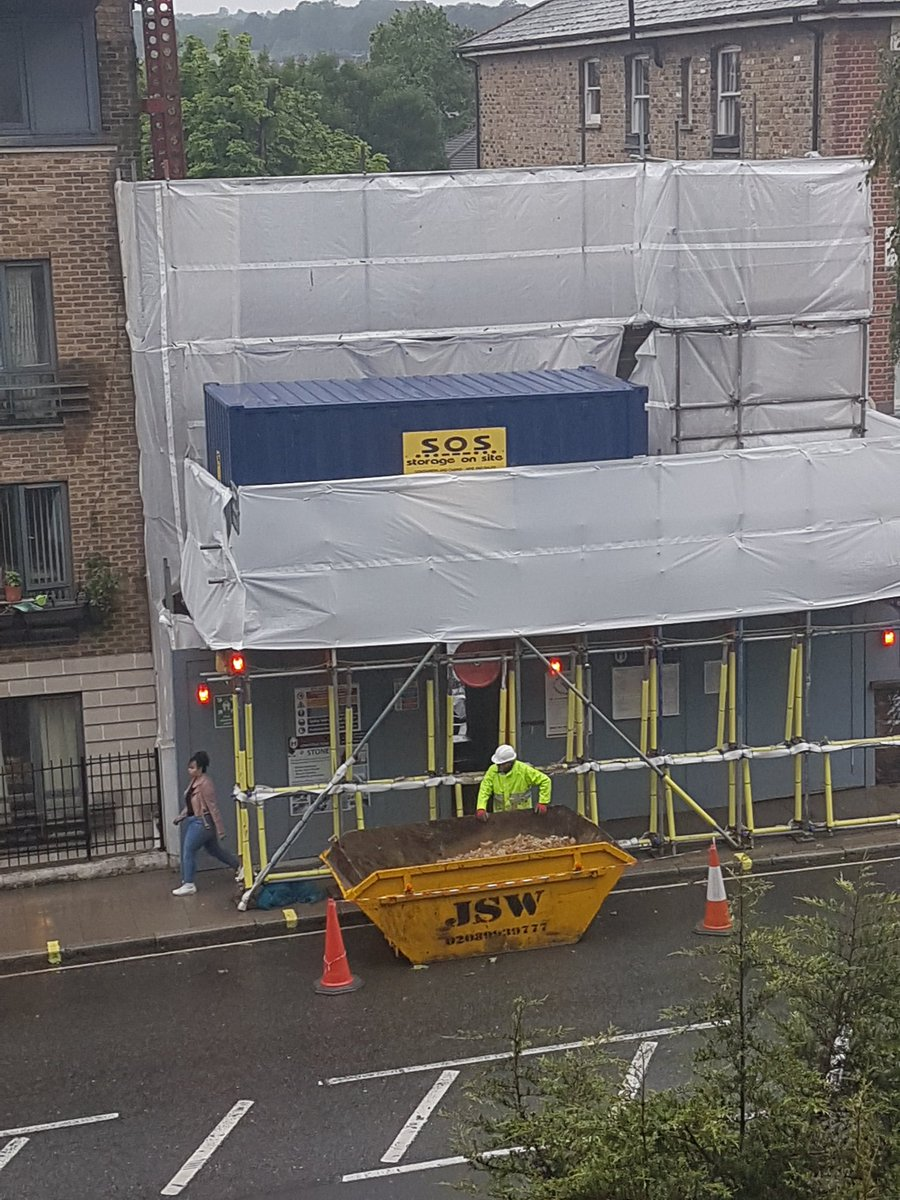 Camden Council has allowed the demolition of the Pugin Vicarage in Fortess Road. Finished up in 60 skips. It was there for over 150 years. Neighbours very hacked off.