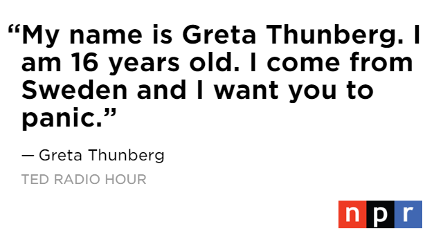.@GretaThunberg is calling on everyone to take action against the climate crisis ... before it's too late.