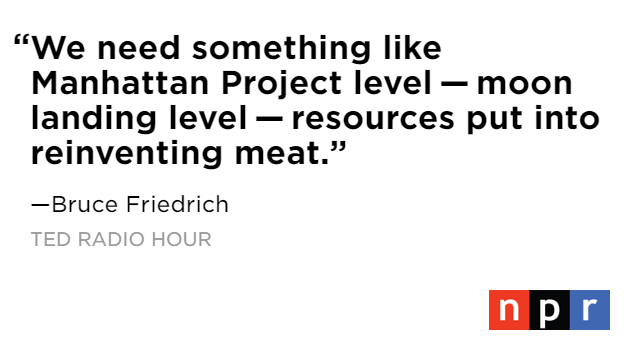 .@BruceGFriedrich argues that the way we eat needs to change soon in order to protect our planet