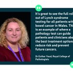 Wales is leading the way in Lynch syndrome testing for all patients with colorectal cancer. Read more on our action blog this week, where we'll be handing in our petitions to UK Health Ministers telling them it's #TimetoTest: https://t.co/he1pgRnjBE