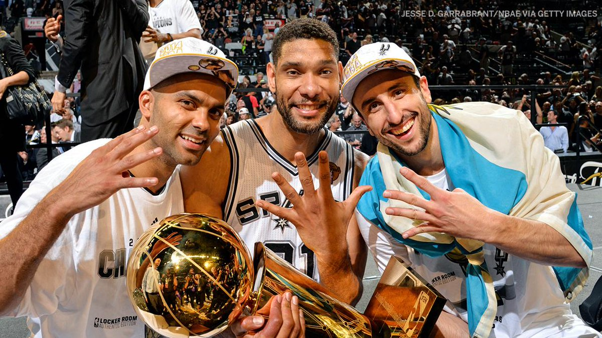 The official end of an era.  The Spurs' trio won 701 regular season and playoff games together, more than any trio in NBA history.