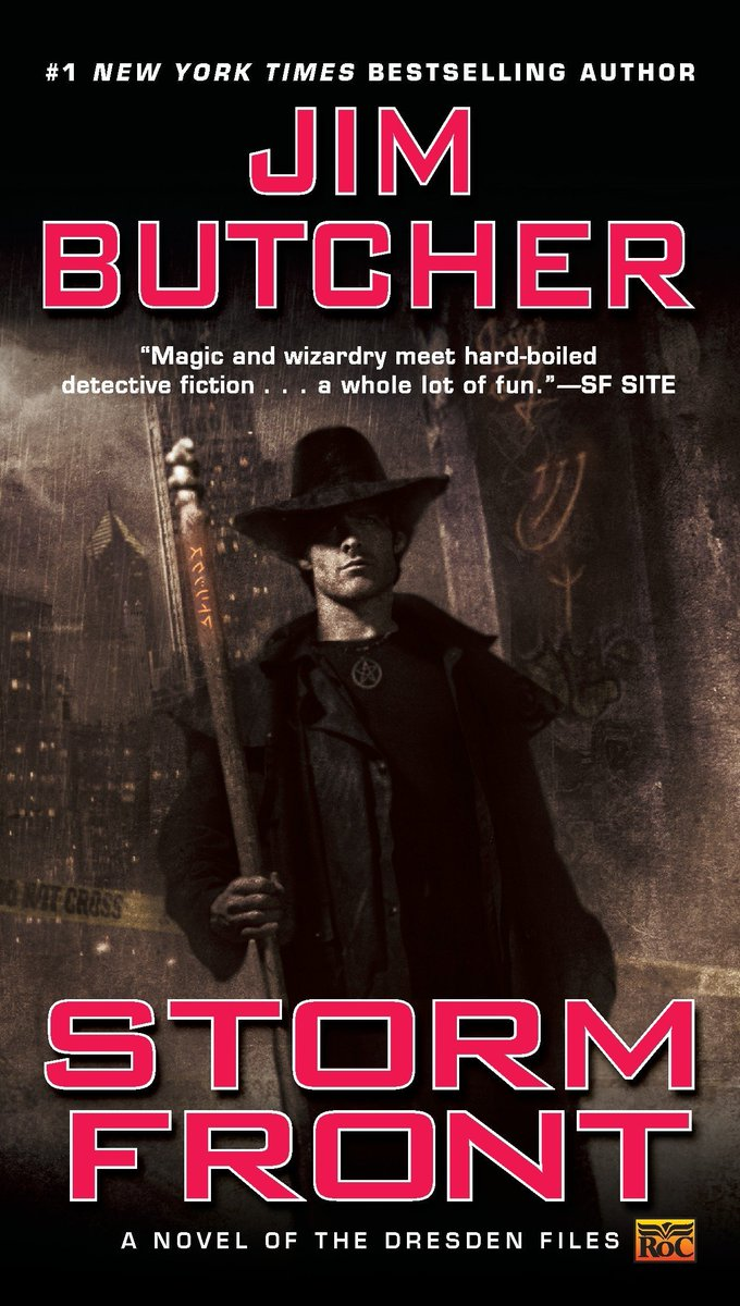 I'm reading #stormfront of the #dresdenfiles again. It's a real good book ^^