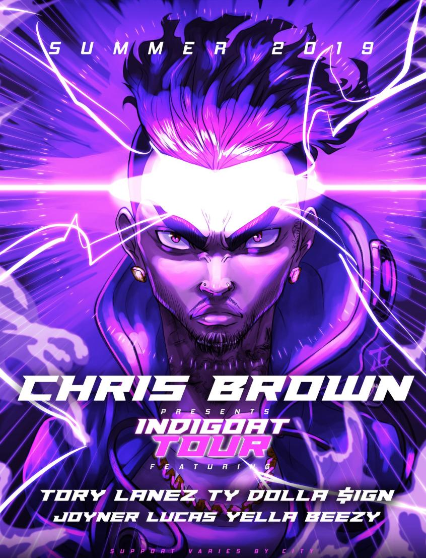 ⚡️ JUST ANNOUNCED ⚡️   @chrisbrown brings his INDIGOAT Tour with @torylanez, @tydollasign, @JoynerLucas and @YELLABREEZY214 to Bankers Life Fieldhouse on Saturday, September 28!  🎟 Tickets go on sale Friday at 12PM. More details coming soon.