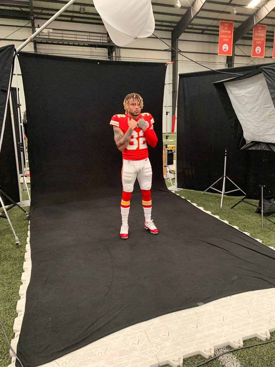 New Chiefs spotted in full uniform for 2019 production day