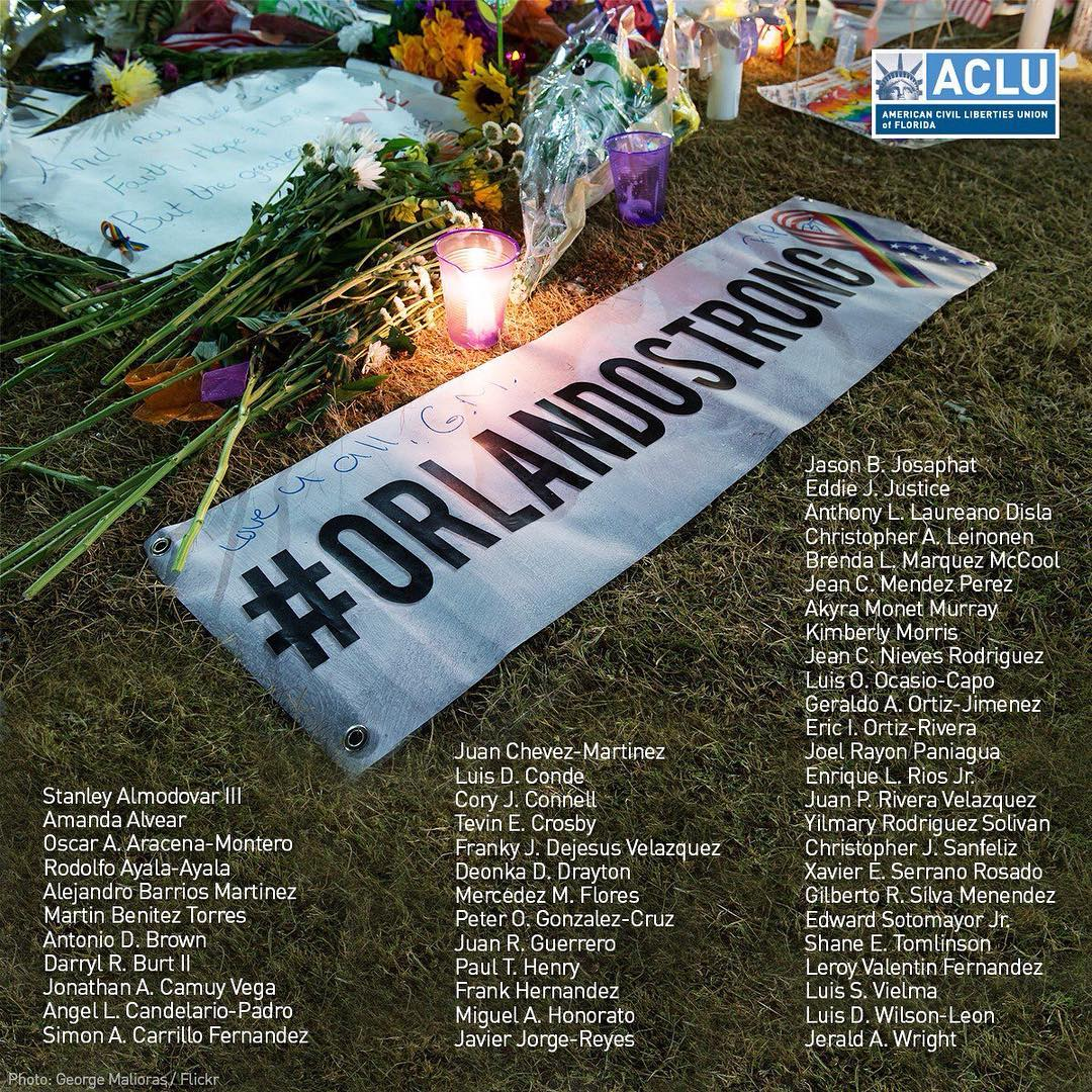 We remember and will work to honor the 49 lives senselessly ended three years ago today at Orlando's Pulse nightclub, and the dozens of survivors irreparably traumatized by the events of that horrific day.We support you. We love you. #OrlandoStrong