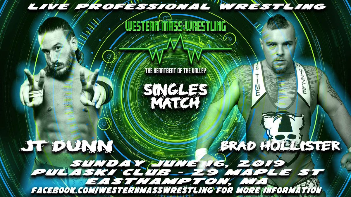 #WesternMassWrestling satisfying all your cravings this Sunday with THIS‼️   ••Dunn v Hollister••