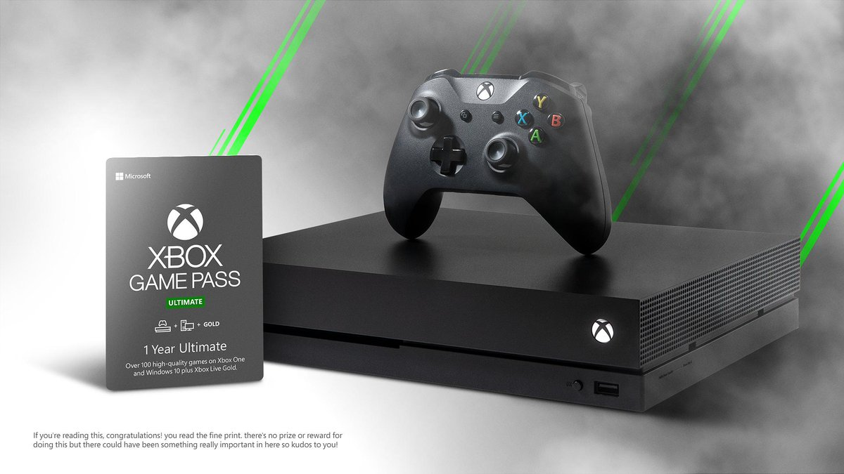We just announced Xbox Game Pass Ultimate which means it's time for a special E3 giveaway!  RT + follow for your chance to win a year of XGP Ultimate and a brand new Xbox One X #UltimateSweeps  rules: https://xbx.lv/2F1N2gH