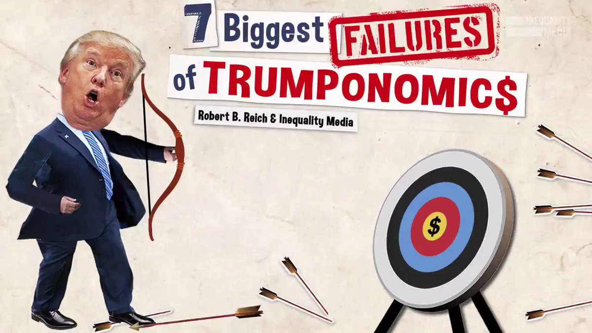 As the stock market falters and the economy begins to slow, here are the 7 biggest failures of Trumponomics: