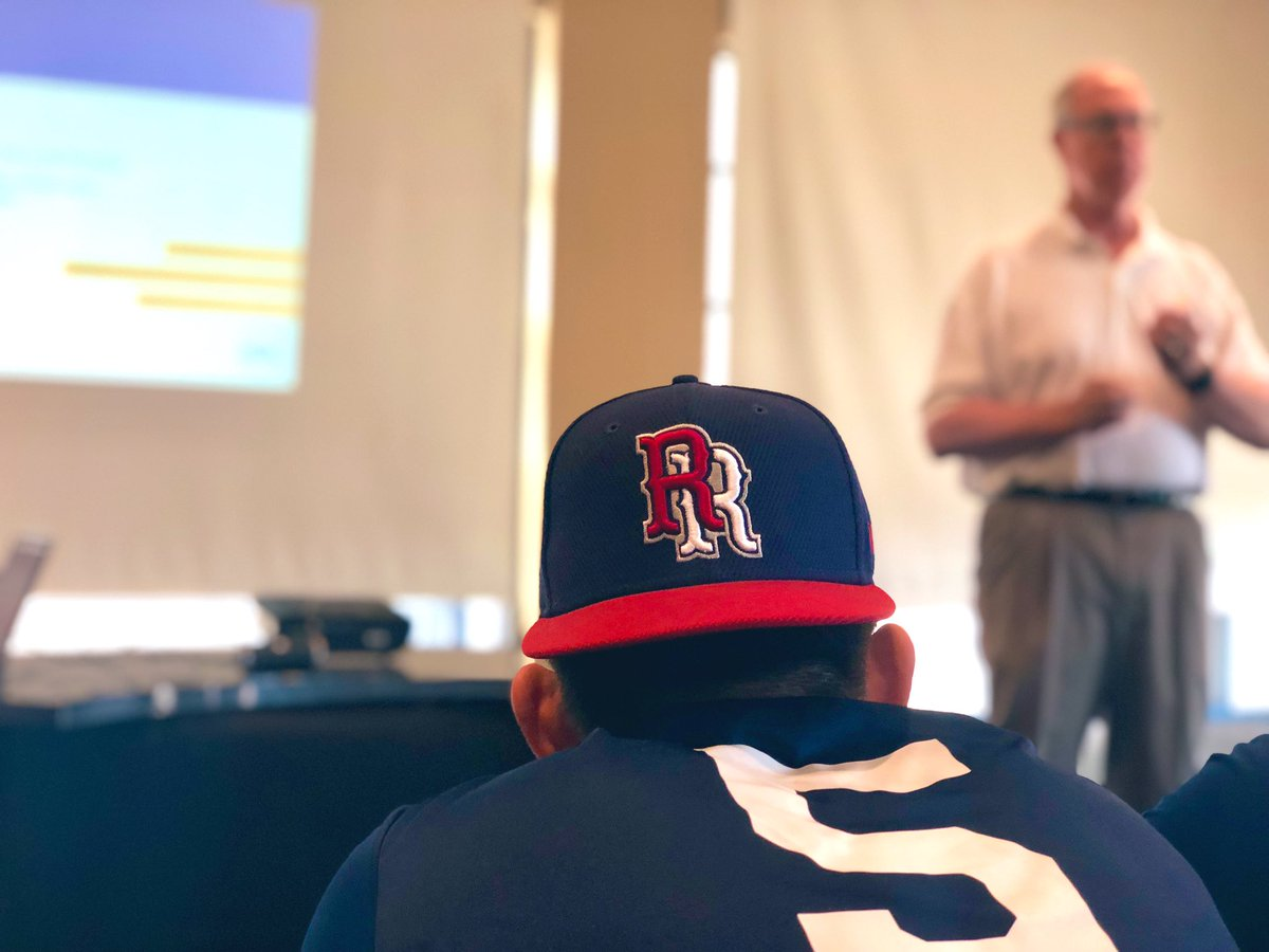 Thankful to the @RRExpress and their Coaches for our partnership and their commitment to developing #BetterAthletesBetterPeople – at Dell Diamond