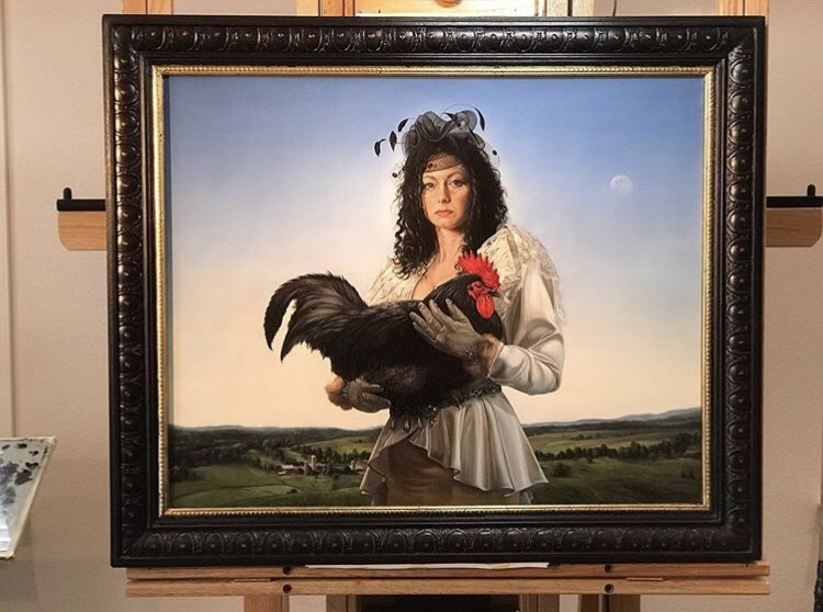 The Cock Thief, 24 x 30, oil on Belgian linen (for sale)  #Art #DavidBowers #Instagram #Twitter #oilpainting #linen #artist https://instagram.com/p/BydtgynHiXd/