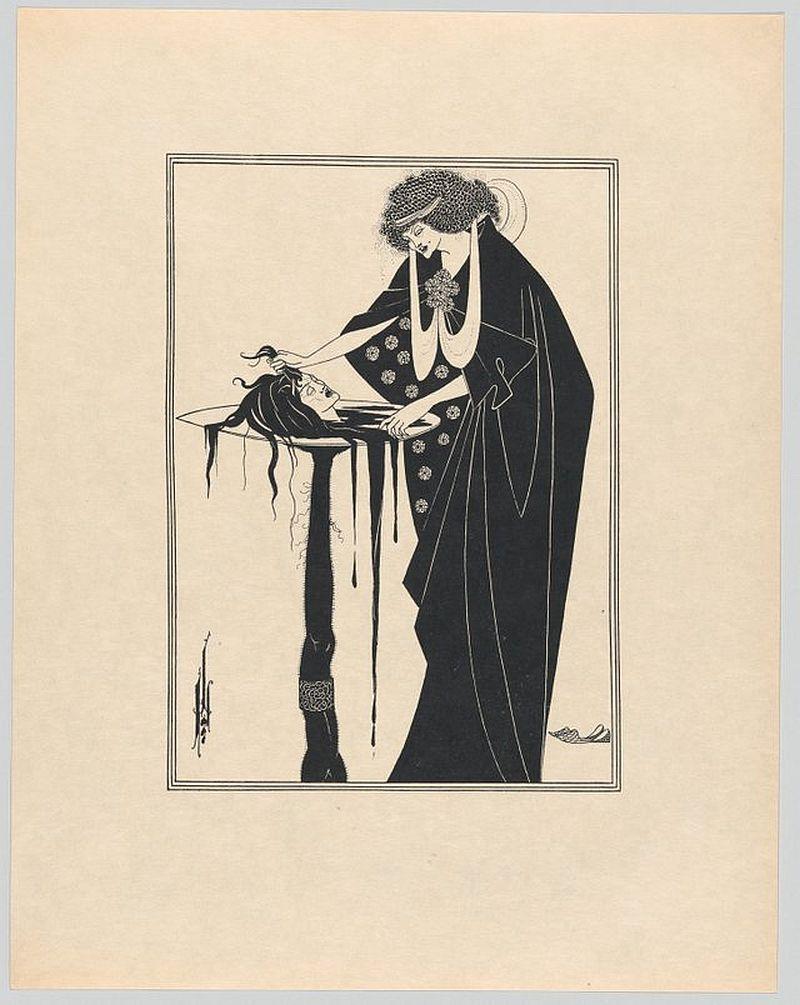 Aubrey beardsley's macabre illustrations of edgar allan poe's short stories