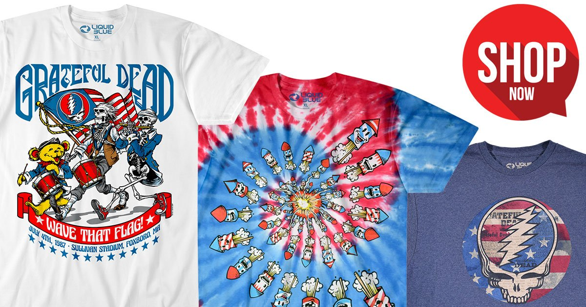 3a52aebfdb3c You'll need something colorful to wear! https://mailchi.mp/liquidblue/061019r  … Grateful Dead Patriotic Tees (Plus Sizes Available) #gratefuldead ...