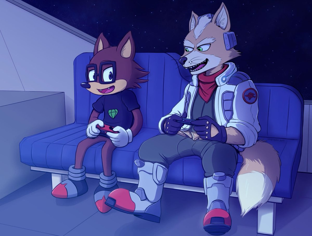 It looks like playtime still isn't over for Star Fox. Commissioned by @MARIOKARTGAMER2<br>http://pic.twitter.com/AetmCO5bP1