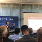 "NAR's Chief Economist Lawrence Yun addressing attendees at #SelectUSASummit on the ""State of the Real Estate Industry"" #ThatsWhoWeR #CRE"