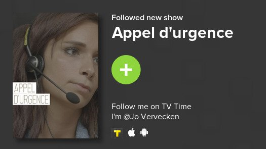 I just added Appel d'urgence to my library! #tvtime  https:// tvtime.com/r/14egP    <br>http://pic.twitter.com/NAW6wR3gVQ
