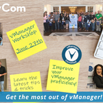 Image for the Tweet beginning: vManager users: don't miss out