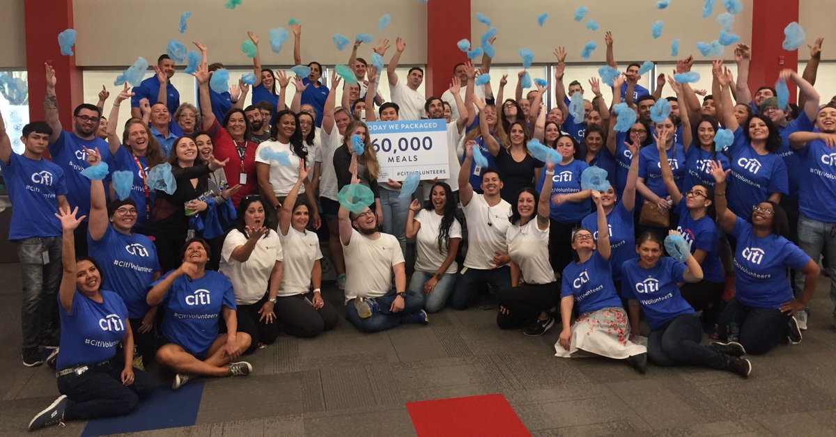 Time to celebrate with @citi Tucson! 60,000 meals for hungry children and families in need! Way to go! #citivolunteers #endhunger #volunteer