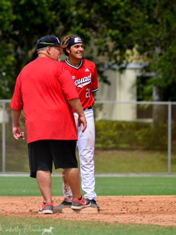 Thank you @OnelGarcia_ for bringing out the best in my son, @MGMenendez21.  It's going to be a great summer! #SquadBoys ⚾️⚫️🔴 @EliteSquad @ESB17uAmerican @House_Of_Grind #SquadUp