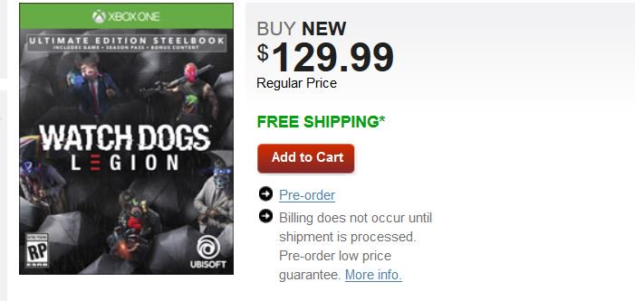 Cheap Ass Gamer On Twitter Pre Order Watch Dogs Legion Ultimate Steelbook Edition Ps4 X1 129 99 Via Gamestop Gamestop Exclusive Https T Co Xlia77c2kl Https T Co Mabwnr2kyc