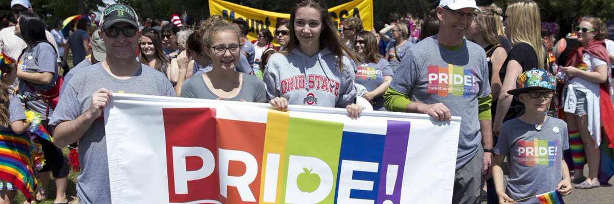 Saskatoon Public Schools is committed to ensuring all school community members feel respected and accepted. One way of putting that commitment into action is participation in the Saskatoon Pride parade. Read the #SPSHomeroom blog: http://ow.ly/rFmO50uxAd1 #spslearn #yxepride