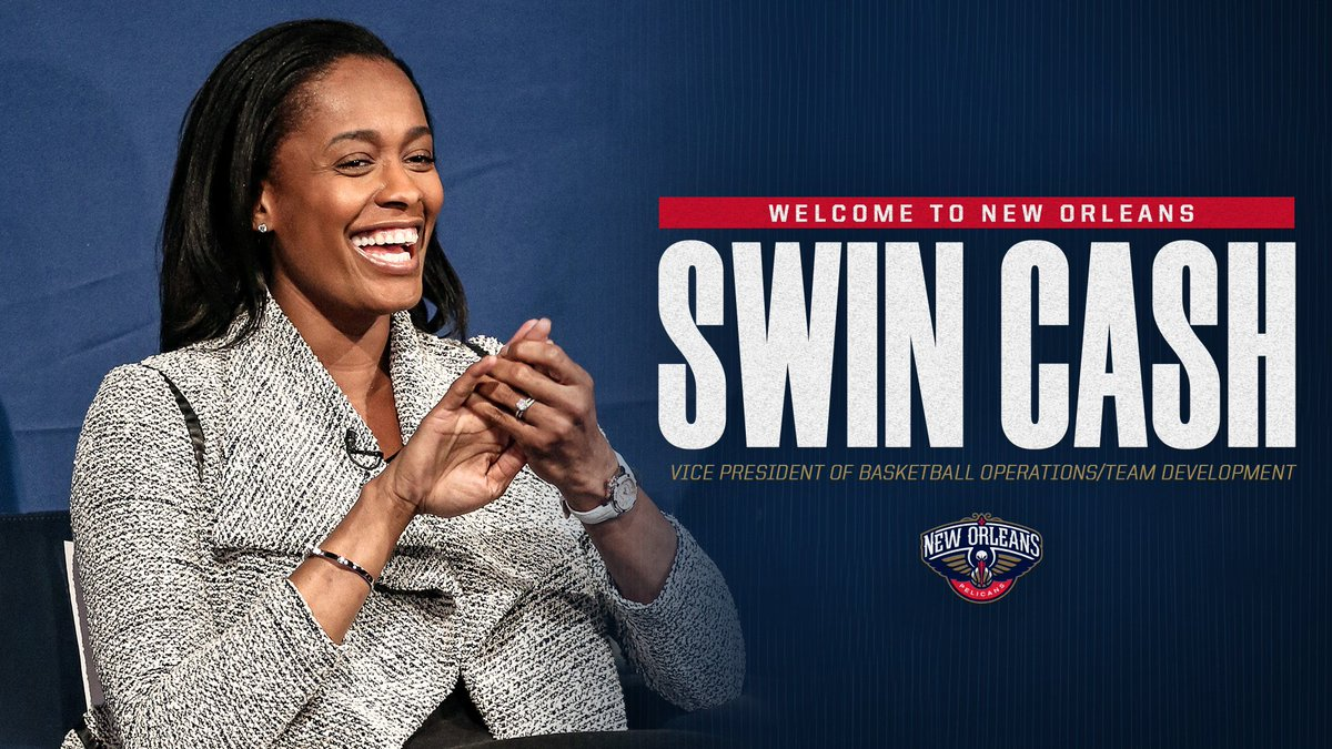 The #Pelicans have hired @SwinCash as Vice President of Basketball Operations/Team Development, it was announced today by Executive Vice President of Basketball Operations David Griffin (@dg_riff)   Story: https://www.nba.com/pelicans/news/pelicans-hire-swin-cash-vice-president-basketball-operations-and-team-development…  #BirdStrikes