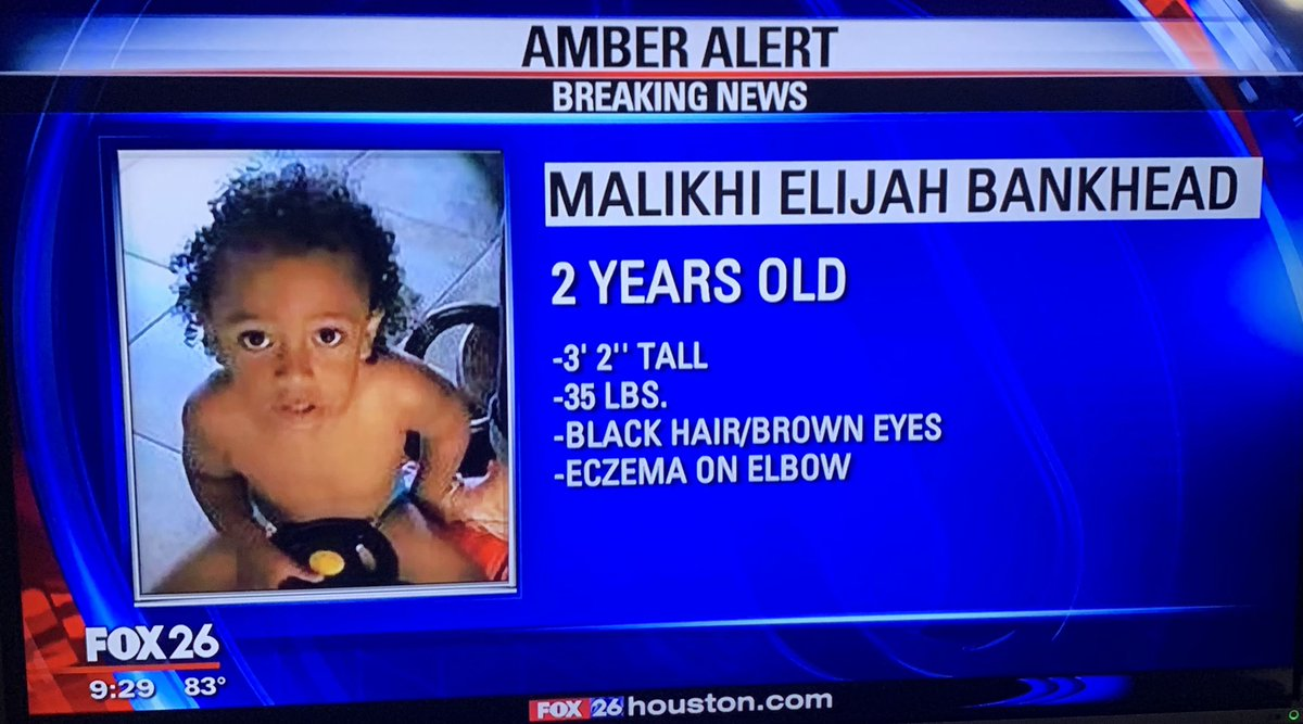 RT @22_aerial: He's only 2 let's help out. He has a whole life ahead of him to live. #SpreadTheWord #AmberAlert https://t.co/AEKJTPBJDD