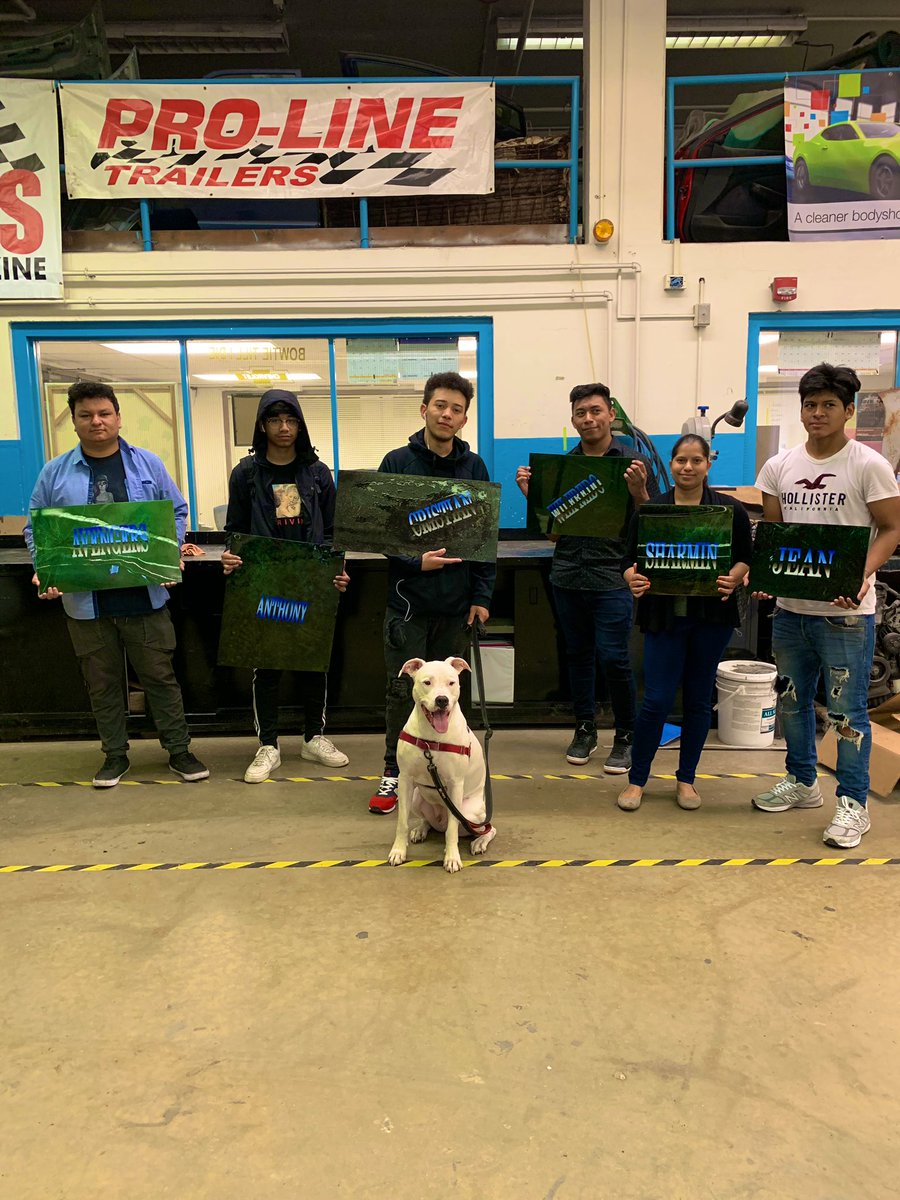 Students show off their customs painted panels.  Automotive Refinishing final exam. <a target='_blank' href='http://search.twitter.com/search?q=marbleeffect'><a target='_blank' href='https://twitter.com/hashtag/marbleeffect?src=hash'>#marbleeffect</a></a>  <a target='_blank' href='http://search.twitter.com/search?q=custompaint'><a target='_blank' href='https://twitter.com/hashtag/custompaint?src=hash'>#custompaint</a></a> <a target='_blank' href='http://twitter.com/APS_CTAE'>@APS_CTAE</a> <a target='_blank' href='http://twitter.com/ACCHilt_Inst'>@ACCHilt_Inst</a> <a target='_blank' href='http://twitter.com/AcadAcademy'>@AcadAcademy</a> <a target='_blank' href='http://twitter.com/CharlesRandolp3'>@CharlesRandolp3</a> <a target='_blank' href='https://t.co/LY2Ujz1SAW'>https://t.co/LY2Ujz1SAW</a>