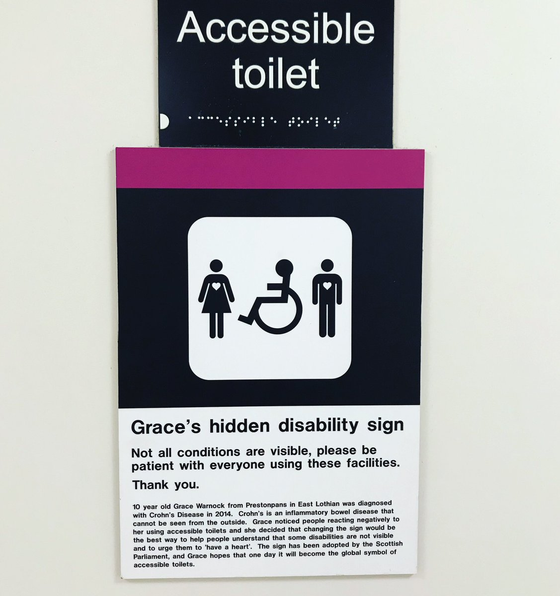 not all disabilities are visible - HD1127×1200