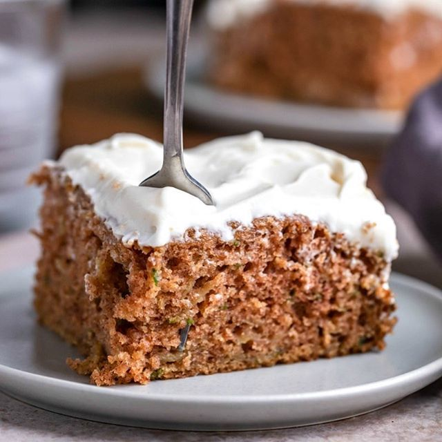 Zucchini Cake is one of my fave things to make with zucchini! It's so super moist and tasty! #cake #dessert #zucchini #summerrecipes #zucchinicake #ihearteating #recipe #bake #baking #eeeeats #cakes #desserts #instafood #instabaker #foodblogger #huffpost…
