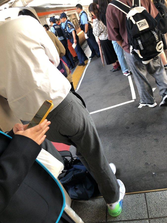 東海道本線の刈谷駅で人身事故が起きた現場画像