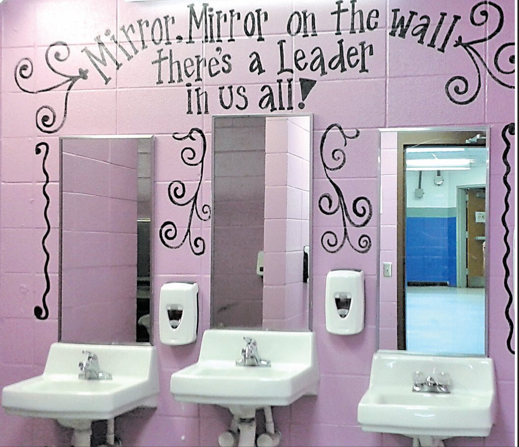 A2. Get the PTA together or a group of teachers and paint the bathrooms over the summer! #LearnLAP