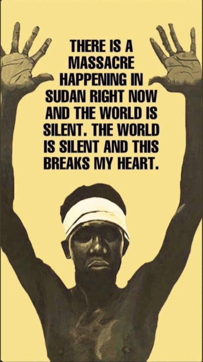 Please read and research about what's happening in Sudan right now. #SudanUprising became #SudanMassacre