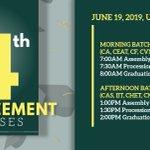 Image for the Tweet beginning: #bsugrad19 Schedules of Graduation Ceremonies
