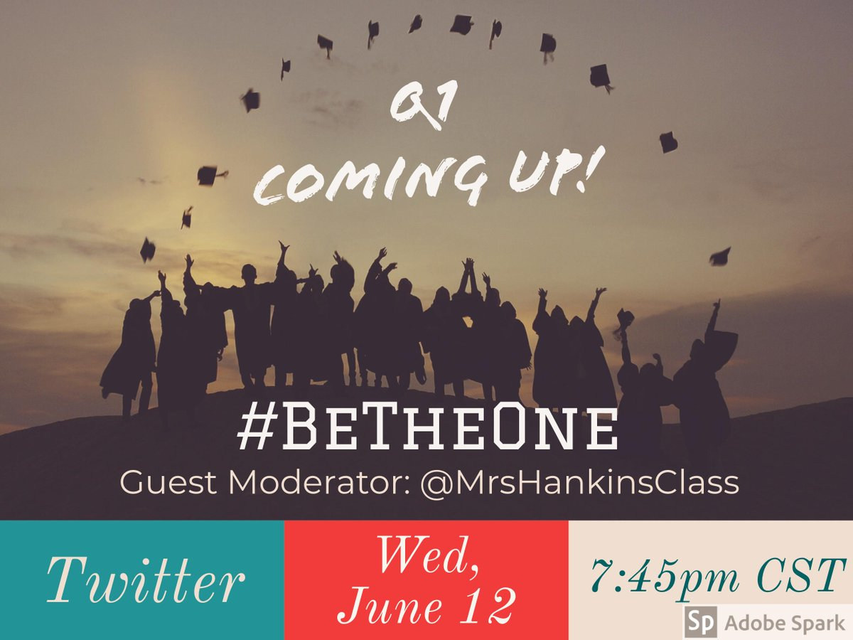 Question #1 is coming up! #BeTheOne