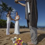 Image for the Tweet beginning: Hawaiian ring blessing ceremony #maui,