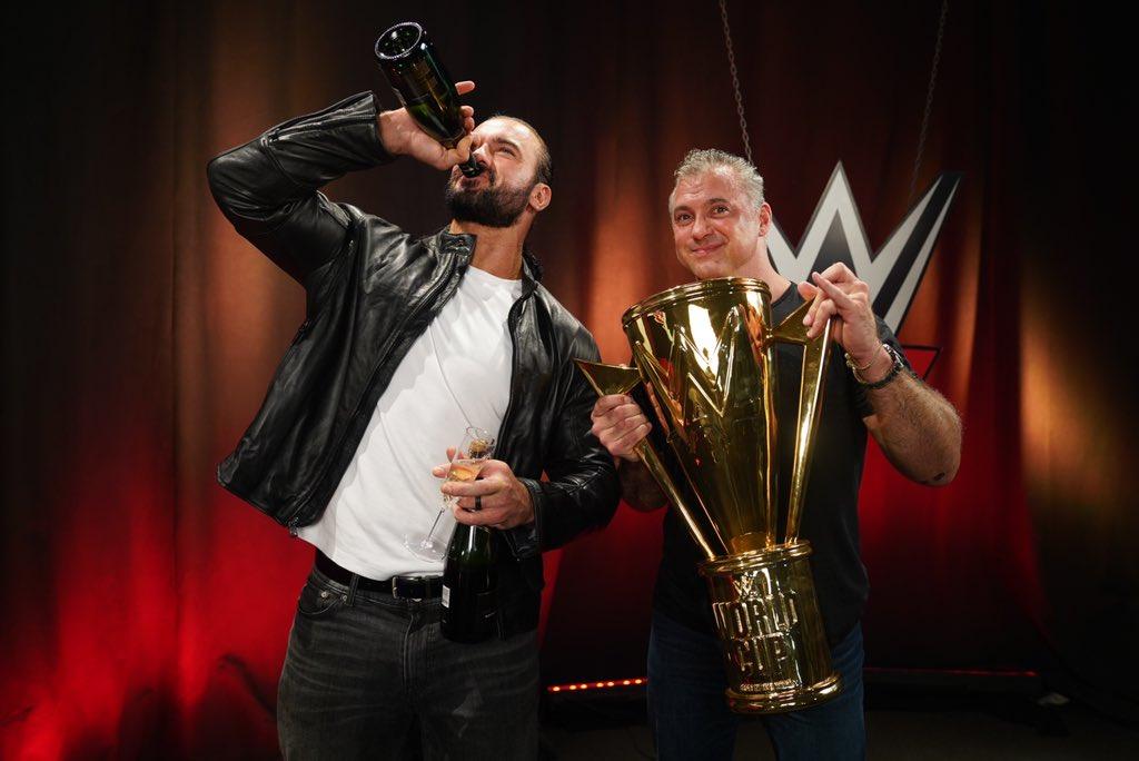 Pinkies up! What a celebration! #Raw