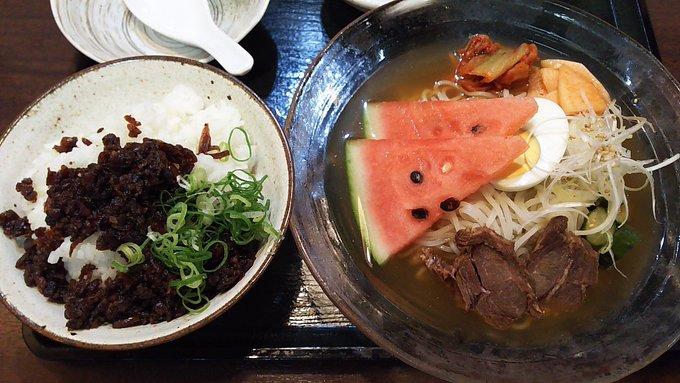 [英語日記] 冷麺と肉みそ Cold noodles and meat miso
