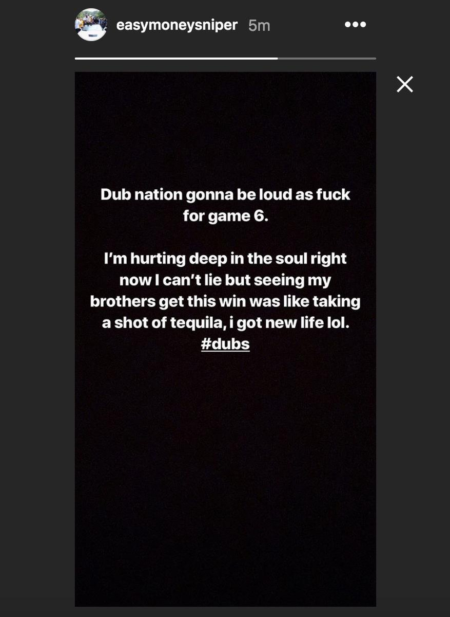 Kevin Durant Posts Message On Instagram Following Game 5